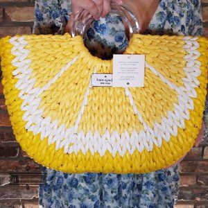 Picnic Perfect Lemon Medium Tote Kate Spade Yellow
